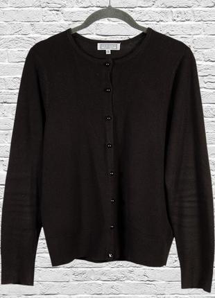 Черный кардиган с пуговицами, вязаный кардиган короткий, черная кофта