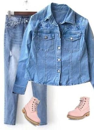 Рубашка пиджак вышивка биссер