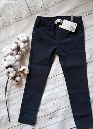 Синие треггинсы, джинсы на 4-5 лет h&m
