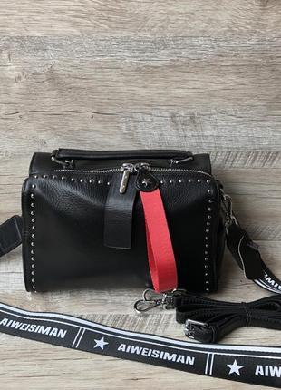 Женская кожаная сумка 4 цвета