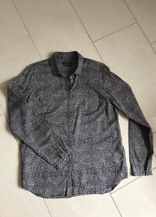 Блуза батистовая стильная модная дорогой бренд marco polo размер 40