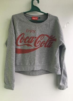 Болеро, свитер укороченный coca cola от new look