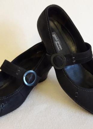 Кожаные туфли фирмы paul green ( австрия) р. 41 стелька 26,5 см