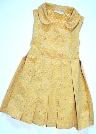 Next. стильное платье с божьими коровками 18-24  мес, 100% хлопок
