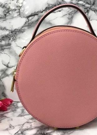Кожаная круглая сумка италия
