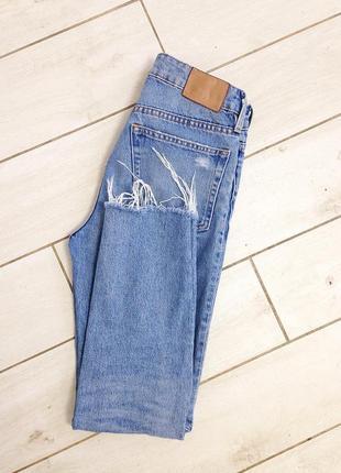 Рваные mom джинсы h&m4 фото