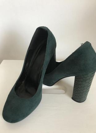 Зелені замшеві туфлі