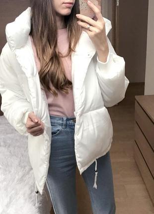 Уценка! белая куртка oversize