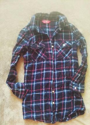 Рубашка блузка на 8-10 р