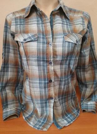 Классика! рубашка в клетку базовая от denim co, p. s/m