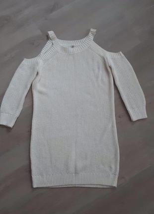 Белый свитер stradivarius