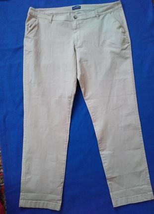 Летние котоновые брюки - чиносы, размер 54