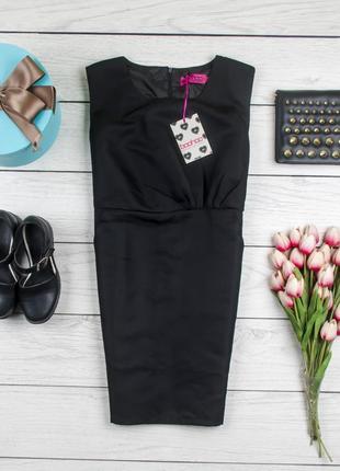 Деловое черное  платье от boohoo рр 12 наш 46