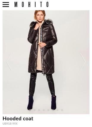 794f8604fb4 Стеганое пальто mohito с капюшоном