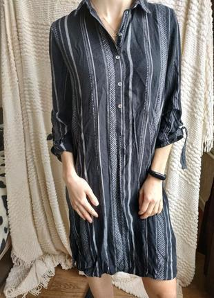 Рубашка туника с натуральной ткани