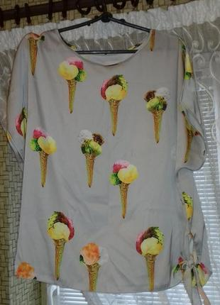 Блузка-футболка с мороженым1 фото