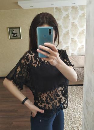 Ажурная блуза от zara