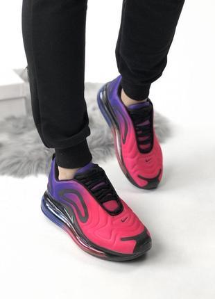 Яркие и модные кроссовки nike в красно-фиолетовом цвете (vesna-leto-ocen)😍