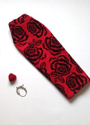 Красная юбка миди с высокой талией izabel london2 фото