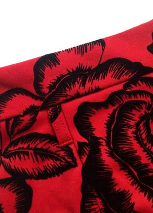 Красная юбка миди с высокой талией izabel london4 фото