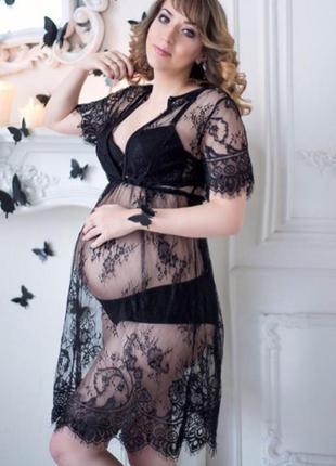 Прозрачный пеньюар / кружевное платье /сексуальное белье/ эротическое белье/туника