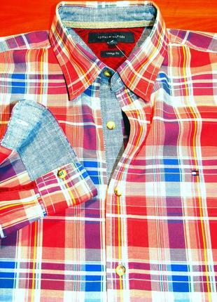 Tommy hilfiger шикарная рубашка - l - m
