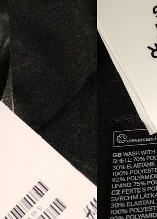 Новый черный модный цельный купальник на запах h&m uk 8/36/,xs8 фото