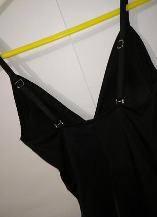 Новый черный модный цельный купальник на запах h&m uk 8/36/,xs7 фото
