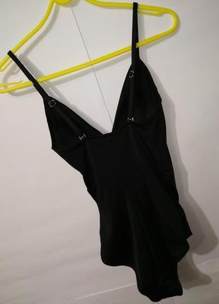 Новый черный модный цельный купальник на запах h&m uk 8/36/,xs6 фото