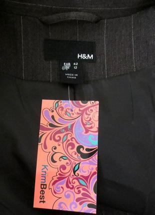 Стильный пиджак жакет от h&mразмер: 48-l3 фото