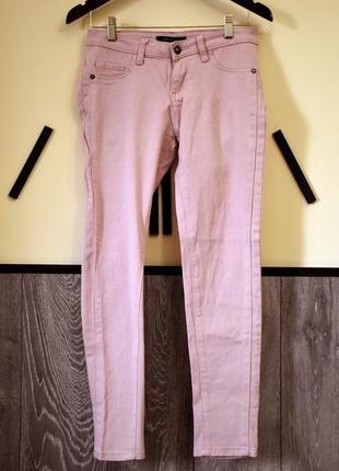 Розовые джинсы деним