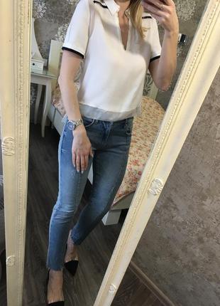 Блузка zara с воротничком