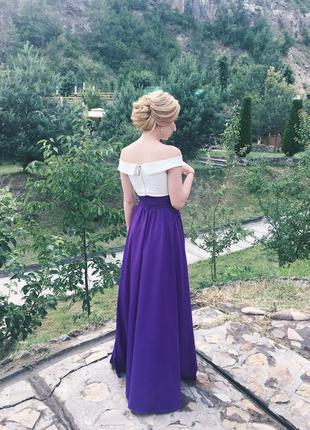 Фиолетовая длинная юбка ivory