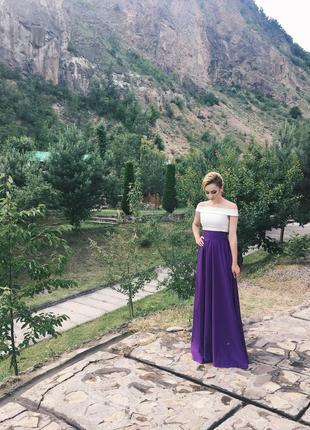 Фиолетовая длинная юбка ivory2 фото