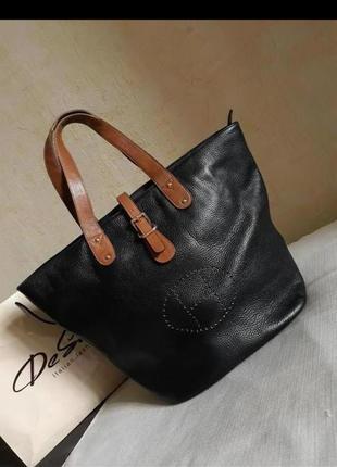 Кожаная сумка натуральная кожа hermes