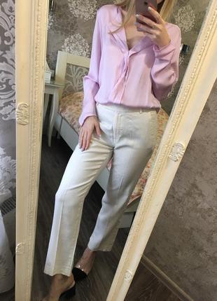 Лиловая рубашка mango