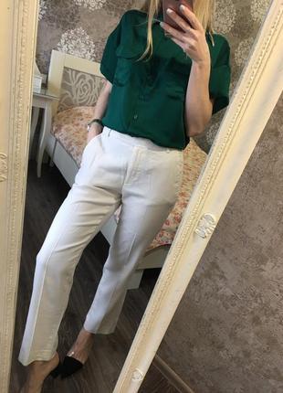 Изумрудная рубашка с коротким рукавом