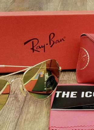 Ray ban aviator diamond hard 3026 62 очки капли унисекс солнцезащитные зеркальные