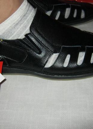 Новые мужские летние открытые  туфли, натуральная кожа