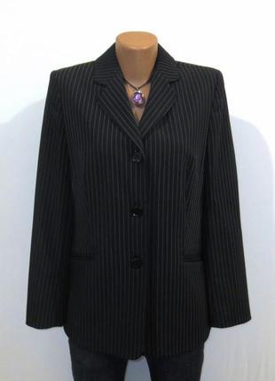 Стильный пиджак от pier angelini в полоску качество стройнит размер: 48-l