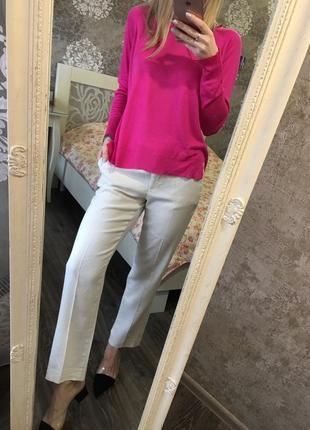 Малиновый свитер zara