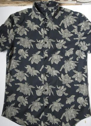 Мужская рубашка гавайская с коротким рукавом размер l