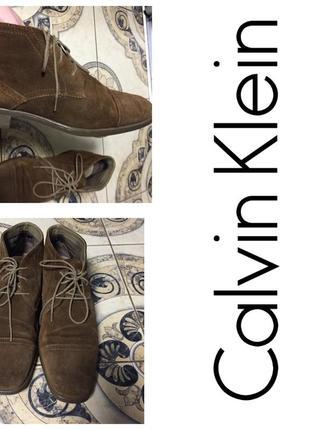 Замшевые туфли calvin klein