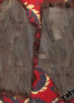 Натуральный мех енота для рукоделия-2 рукава5