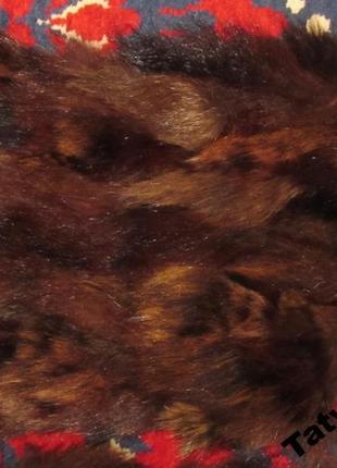 Натуральный мех енота для рукоделия-2 рукава4