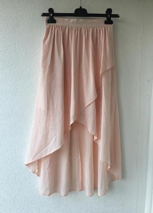 Очень красивая и нежная асимметричная юбка