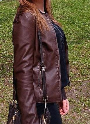 Куртка из экокожи calliope3 фото