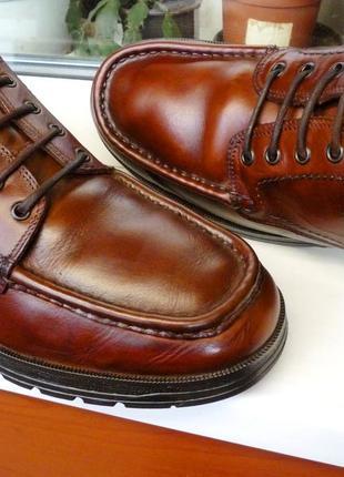"""Очень мягкие и прочные кожаные туфли """" clarks """", англия! 45 р."""