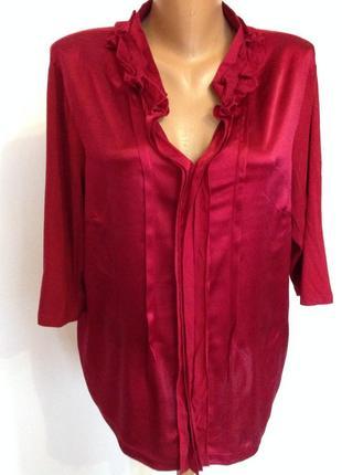 Елагантная комбинированная немецкая блуза . 44/brend taifun
