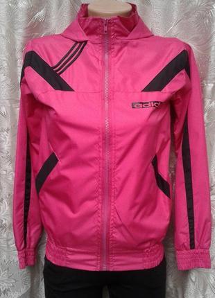 Костюм спортивный женский плащевка розовый с черным